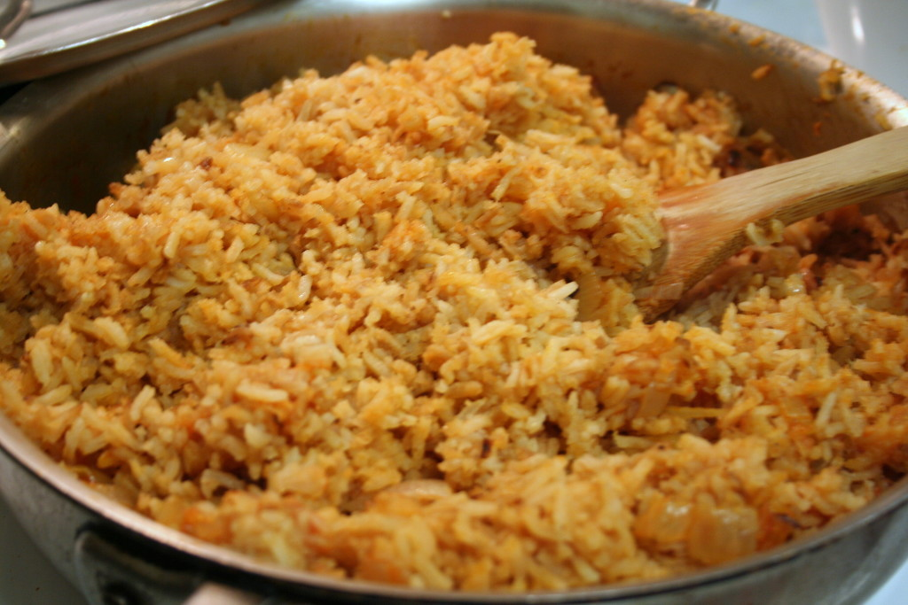 Fluffed Spanish Rice