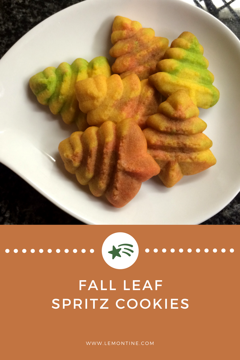 Fall Leaf Spritz Cookies